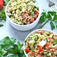 Tabbouleh Salad Recipe with Freekeh and Feta
