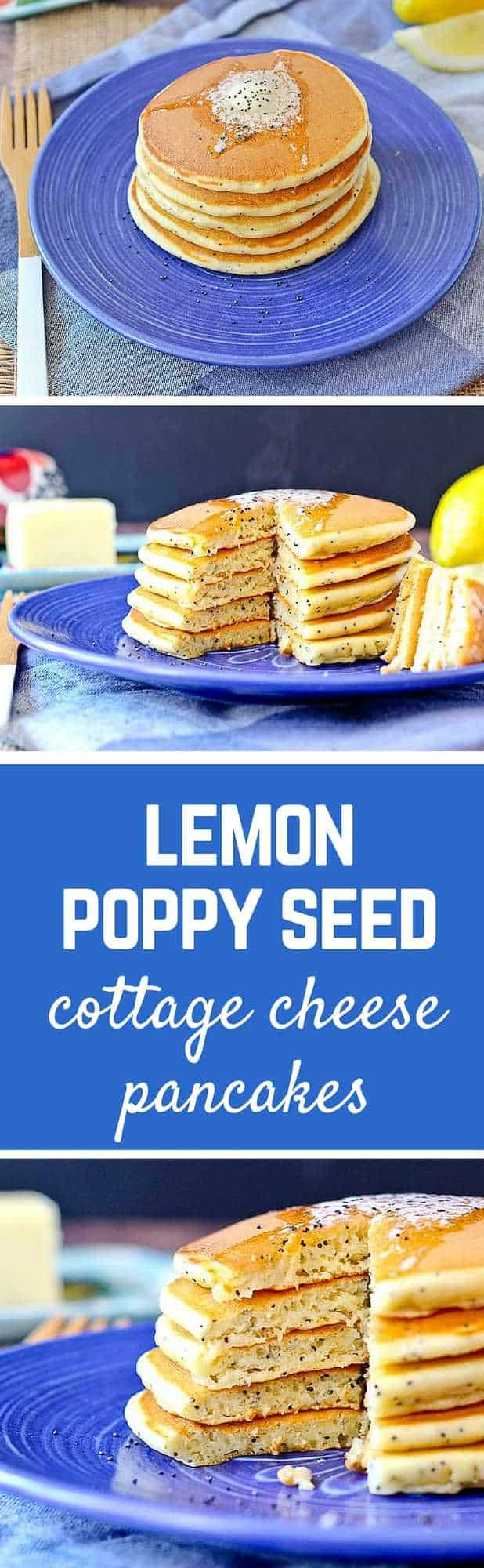 Lemon Poppy Seed Pancakes With A Secret Ingredient For Added Protein! Get  The Easy Recipe