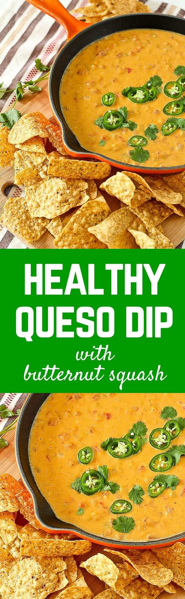 This healthy queso dip is about as healthy as you'll get when it comes to a decadent, cheesy dip. You'll love the subtle sweetness and vibrant color that the butternut squash adds. This one is a must-try! Get the appetizer recipe on RachelCooks.com!