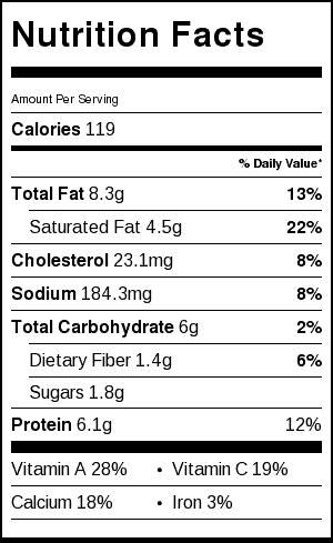 healthy queso dip recipe nutritional label