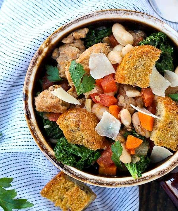 Italian Sausage Stew with White Beans and Kale - Rachel Cooks®