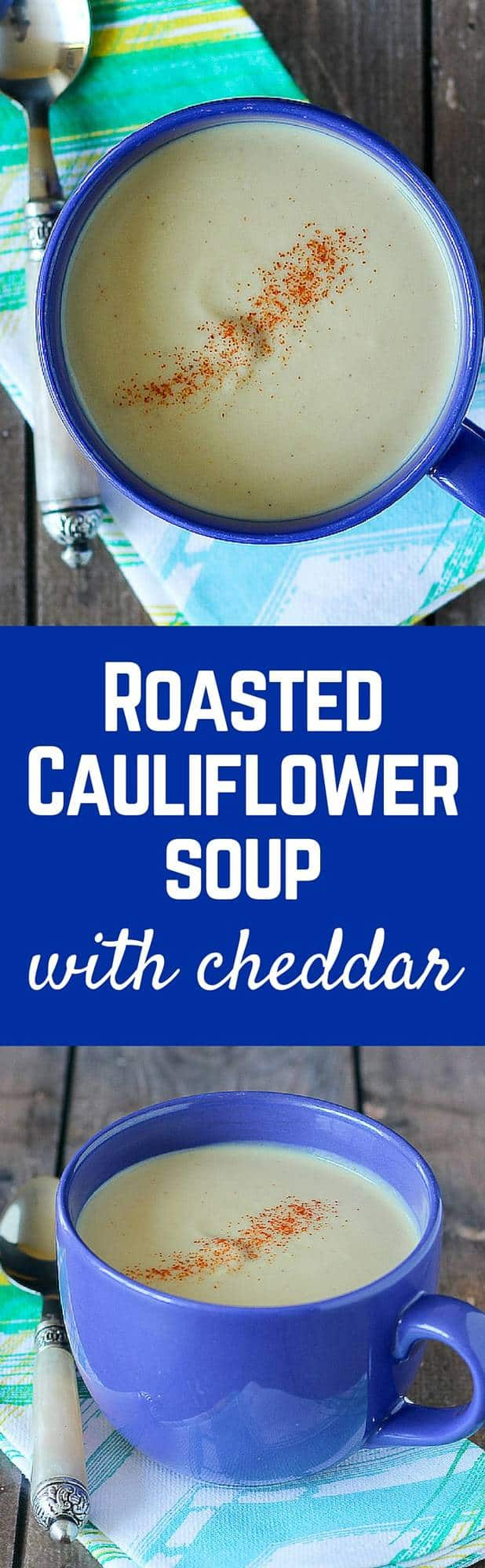 This cauliflower soup is a perfect weeknight meal when you're craving a bowl of creamy soup. The sharp cheddar adds great flavor and extra creaminess. Get the recipe on RachelCooks.com!