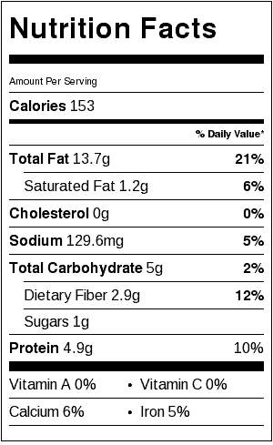 Olive Oil Roasted Almonds Nutritional Information