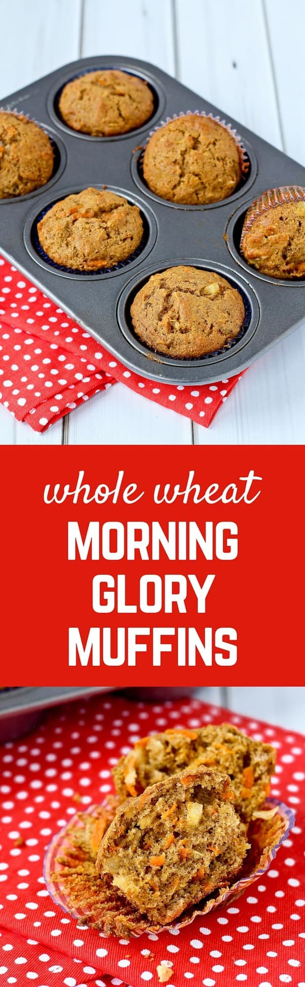 There aren't many better ways to start your day than with one of these morning glory muffins. Filling, flavorful, and oh so satisfying thanks to carrots, pineapple, coconut and raisins. Get the recipe on RachelCooks.com!