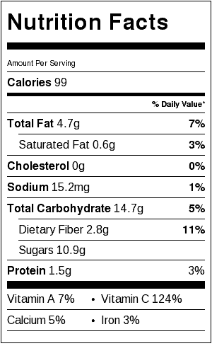 red cabbage salad recipe nutrition information and label