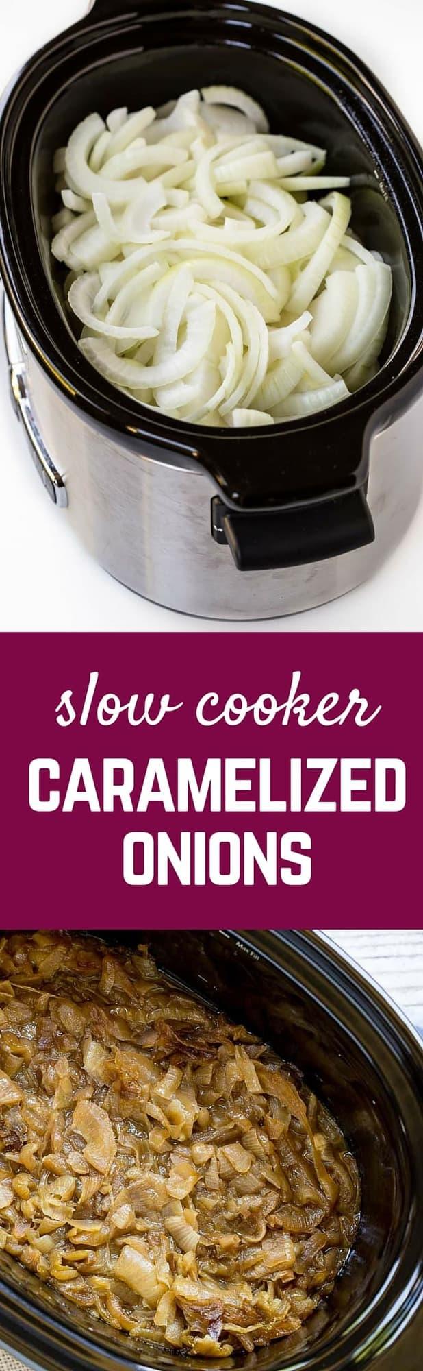 Slow Cooker Caramelized Onions - Rachel Cooks®