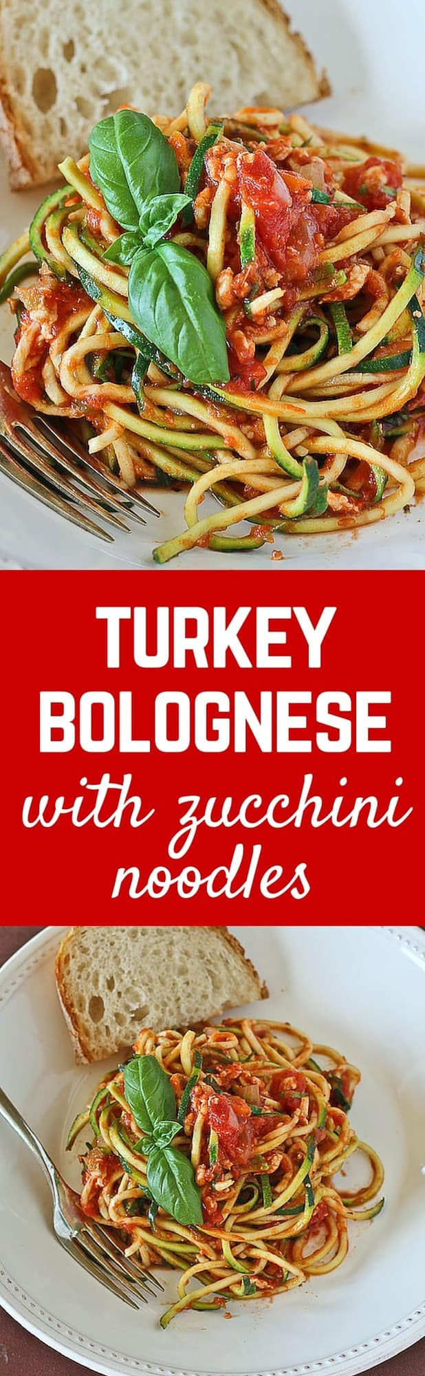 Turkey Bolognese with Zucchini Noodles {gluten free}Rachel Cooks