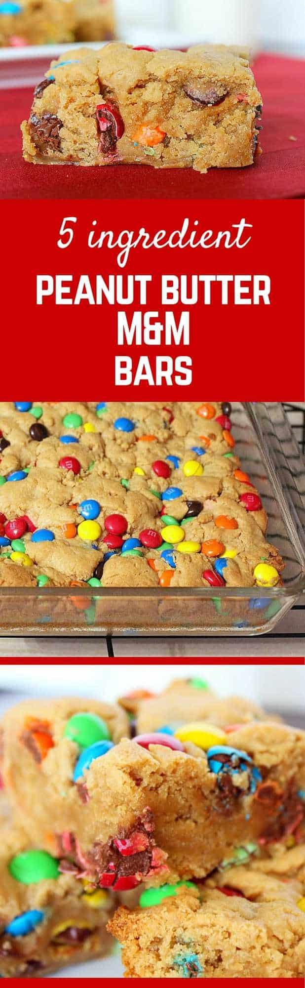 5 Ingredient M M Peanut Butter Bars Rachel Cooks