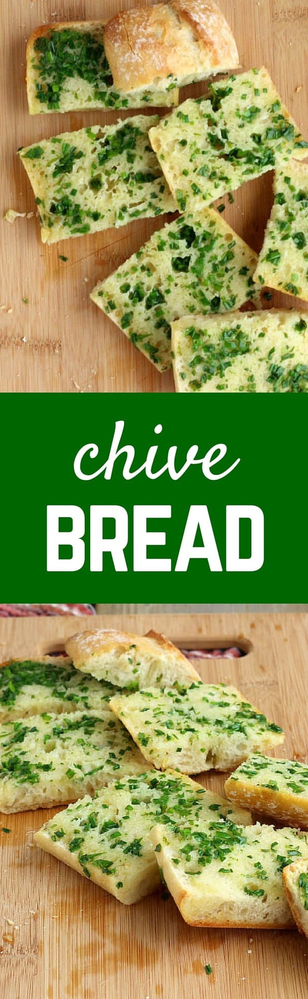 This chive bread is a great change from your typical garlic bread. Mix things up a little tonight! People will RAVE about this bread! Get the recipe on RachelCooks.com!