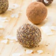 Whether you're allergic or just don't have a taste for nuts, these nut-free energy balls are delicious. They satisfy that chocolate craving and give you a boost of energy. Get the easy allergy-friendly recipe on RachelCooks.com!