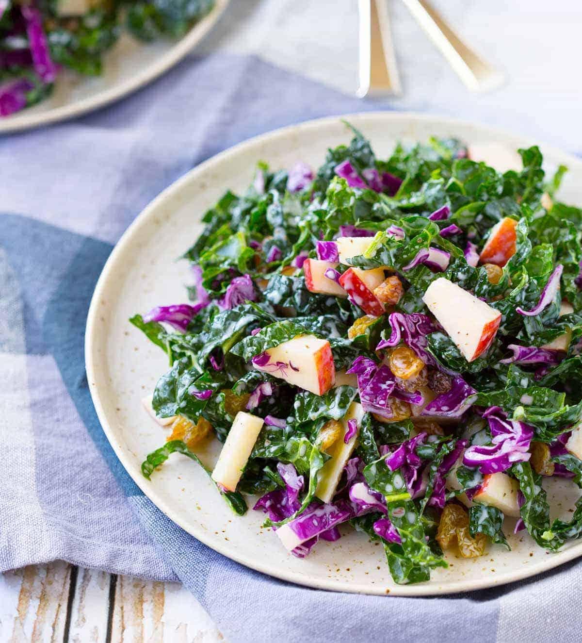 Kale Salad With Apples And Golden Raisins Rachel Cooks 174