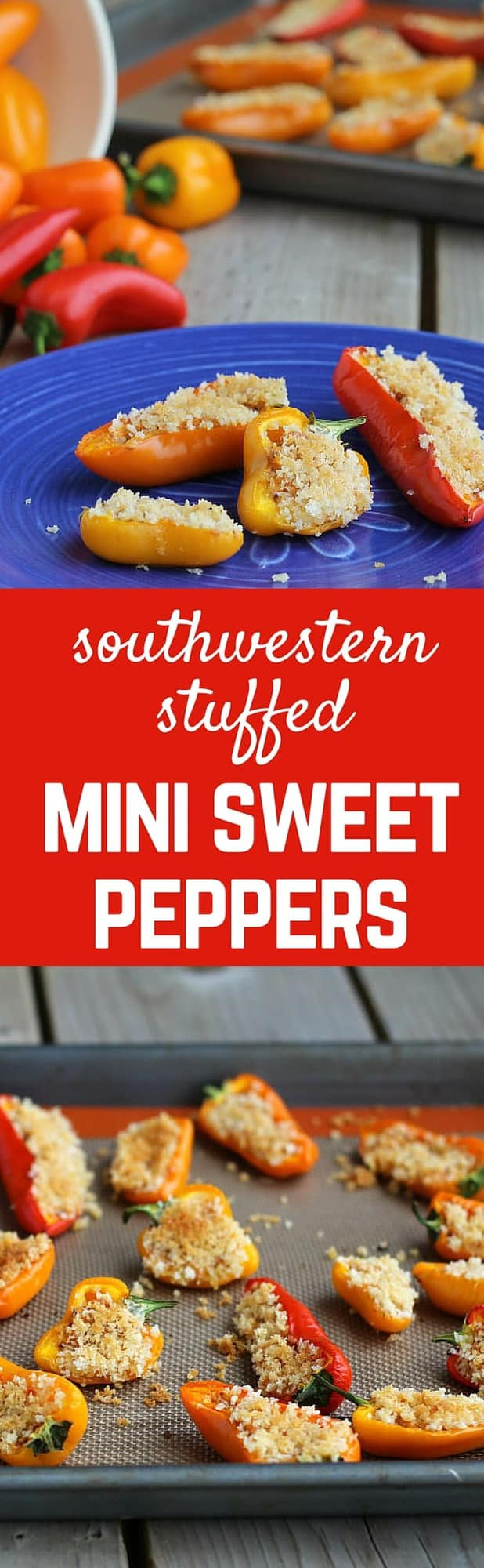 These stuffed mini sweet peppers have a perfect touch of the southwest. Spicy, creamy, crunchy and so tasty! What more could you want? Get the recipe on RachelCooks.com!