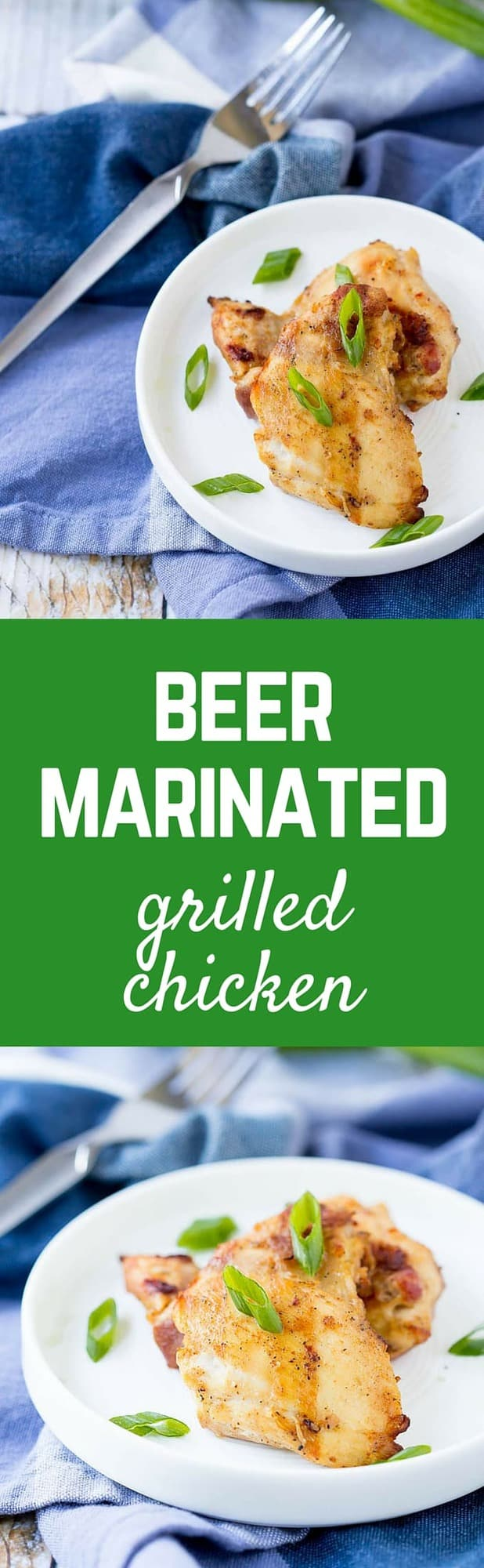 Beer marinated chicken thighs scream SUMMER loud and clear. The subtle taste of the beer in every bite of the chicken will have everyone singing your praises. Get the easy summer grilling recipe on RachelCooks.com!