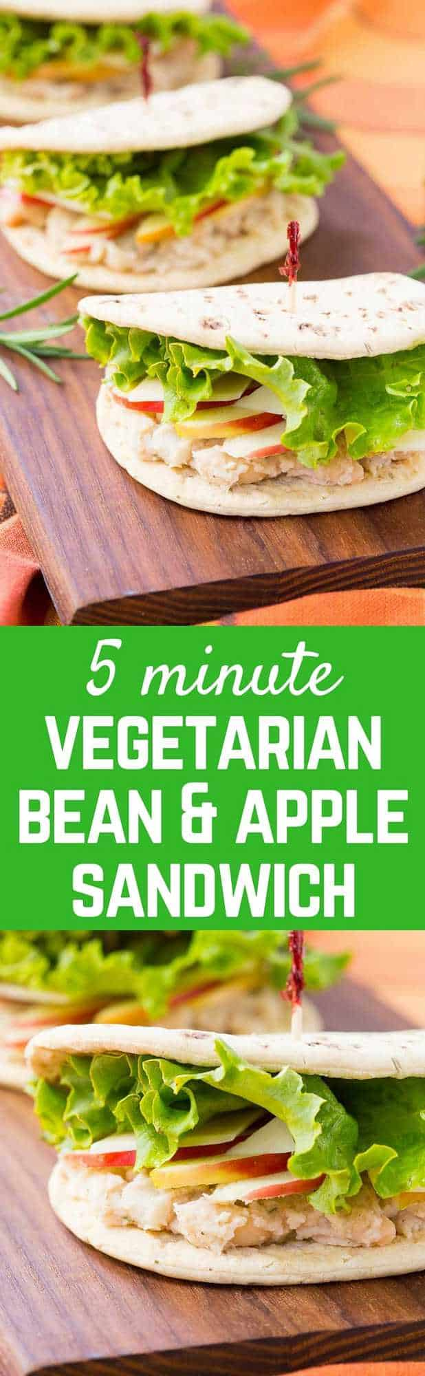 This bean Sandwich with Rosemary, Apple, and Parmesan is the perfect meatless lunch! You'll love the creamy beans with the fresh, crisp bite of the apple. Get the easy 5 minute vegetarian recipe on RachelCooks.com!