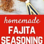 Ingredients for fajita seasoning.