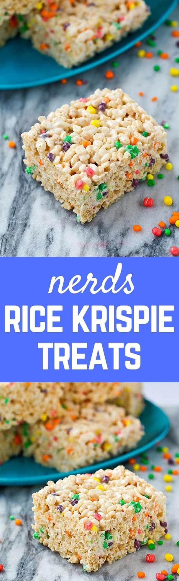 Nerds Rice Krispie Treats - RachelCooks.com