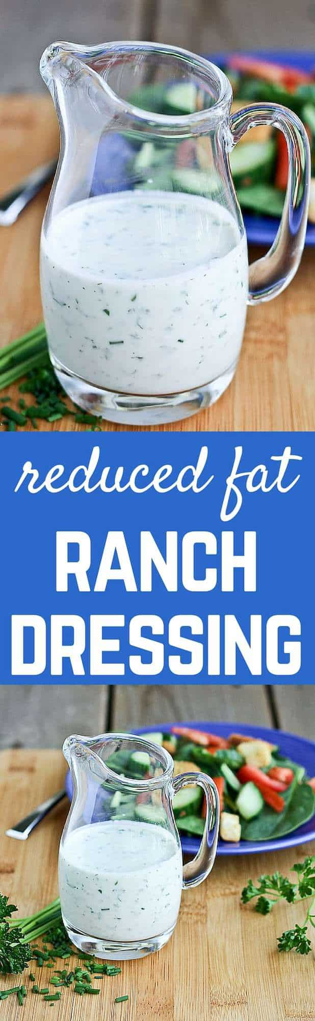The great taste of ranch dressing without the guilt! You'll love this reduced fat ranch dressing recipe. Get the recipe on RachelCooks.com!