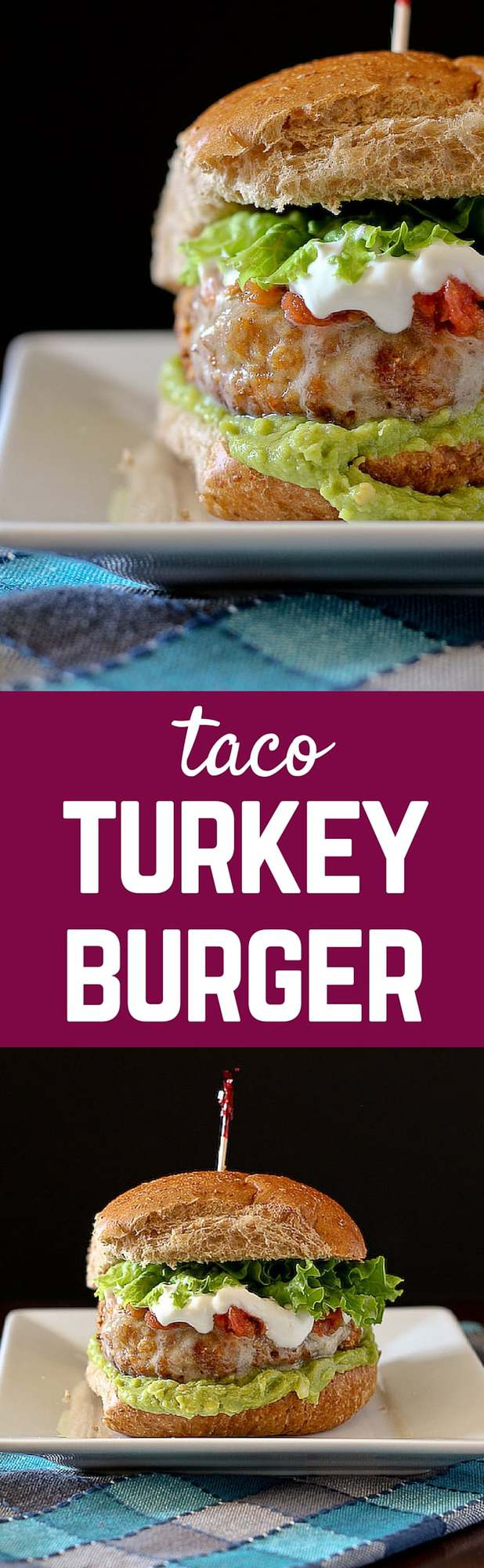 This taco turkey burger recipe combines your summertime favorite (the burger!) with your every day favorite – the taco! Get the recipe on RachelCooks.com!