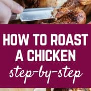 Learn how to roast a chicken and make an amazing dinner at the same time. After tasting this delicious chicken with crispy skin and juicy meat you're going to be putting this on the weekly menu.