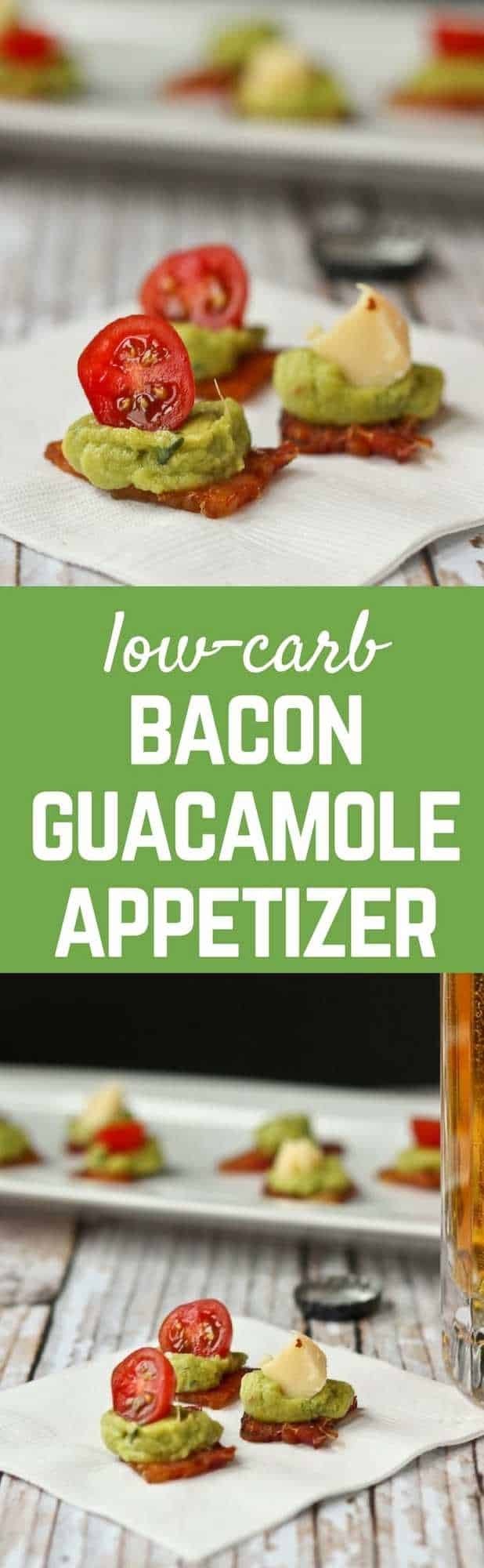 These bacon guacamole appetizer bites are perfect for game day - plus they're low-carb! Get the recipe on RachelCooks.com!