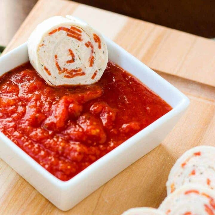 These pepperoni pizza tortilla pinwheels make a fun appetizer or school lunch. Your kids will think they have hit the jackpot when they open their lunchbox! Get the easy make-ahead recipe on RachelCooks.com!