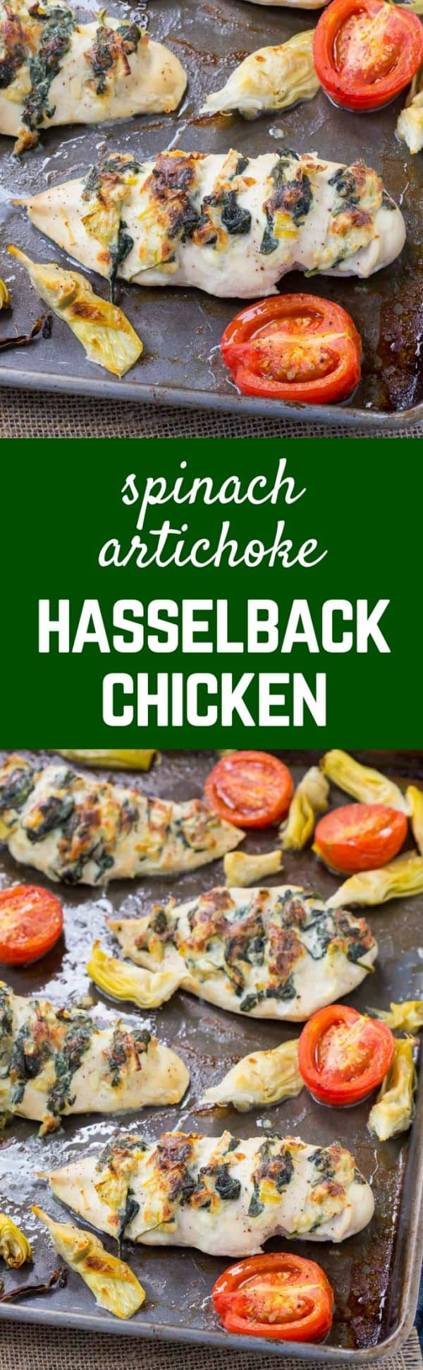 This Hasselback Chicken with Spinach and Artichoke might be your new favorite way to prepare chicken. Rounded out with a few vegetables, this is a perfect weeknight meal! Get the recipe on RachelCooks.com!