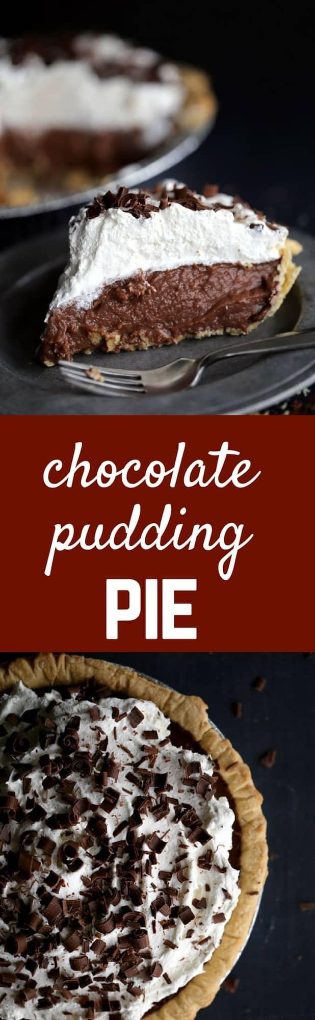 Chocolate Pudding Pie Recipe - HOMEMADE! - Rachel Cooks®