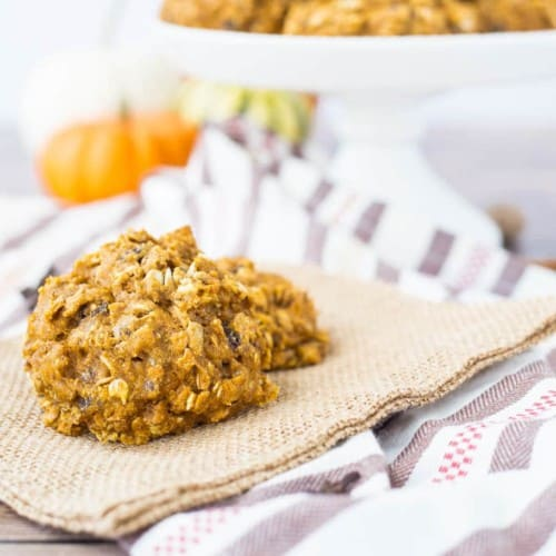 Naturally sweetened and full of protein, these pumpkin breakfast cookies are a powerful (and fall inspired!) way to start the day. Get the healthy recipe on RachelCooks.com!
