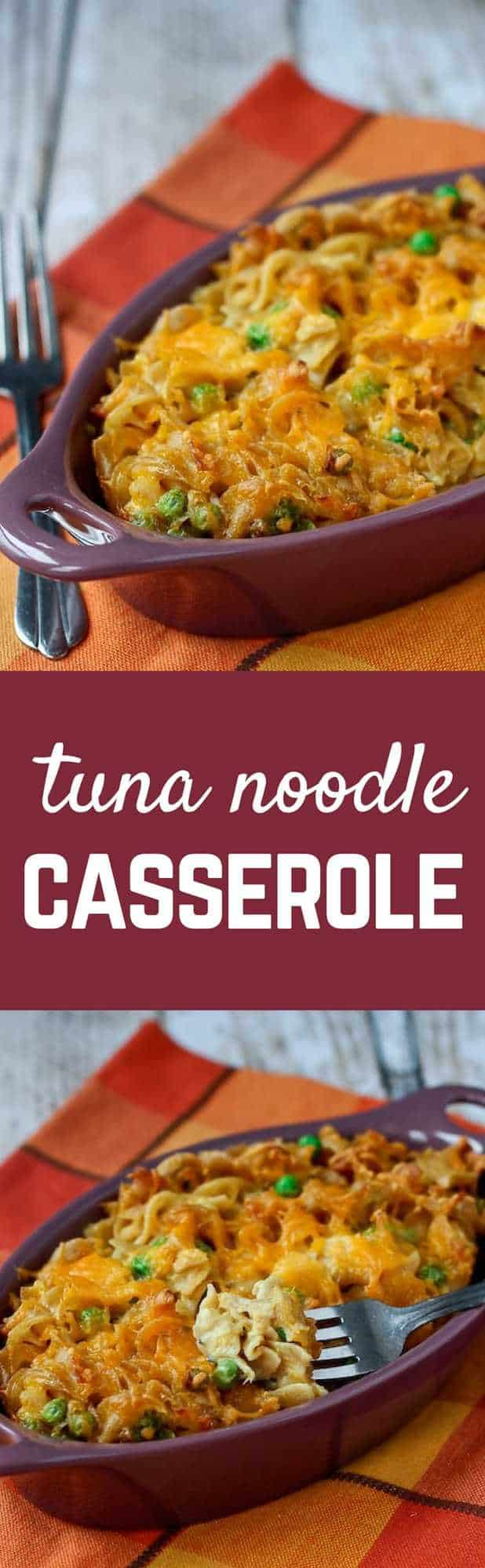 Tuna Noodle Casserole Recipe - with an unexpected crunch. This is my husband's favorite casserole! Get the recipe on RachelCooks.com!