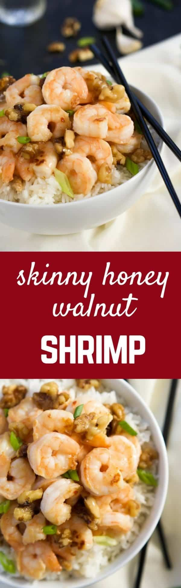 Honey Walnut Shrimp Recipe - get the takeout copycat on RachelCooks.com! You'll love this lightened up shrimp recipe that's so simple to make! Save money and stay in your pajamas while you eat this fantastic seafood recipe.