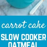 Carrot Cake Slow Cooker Oatmeal on RachelCooks.com
