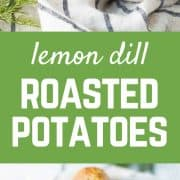 My husband isn't a potato fan and even he couldn't get enough of these crispy dill roasted potatoes with lemon. He said they tasted butter-soaked (spoiler: they're not!). Get the easy side dish recipe on RachelCooks.com!