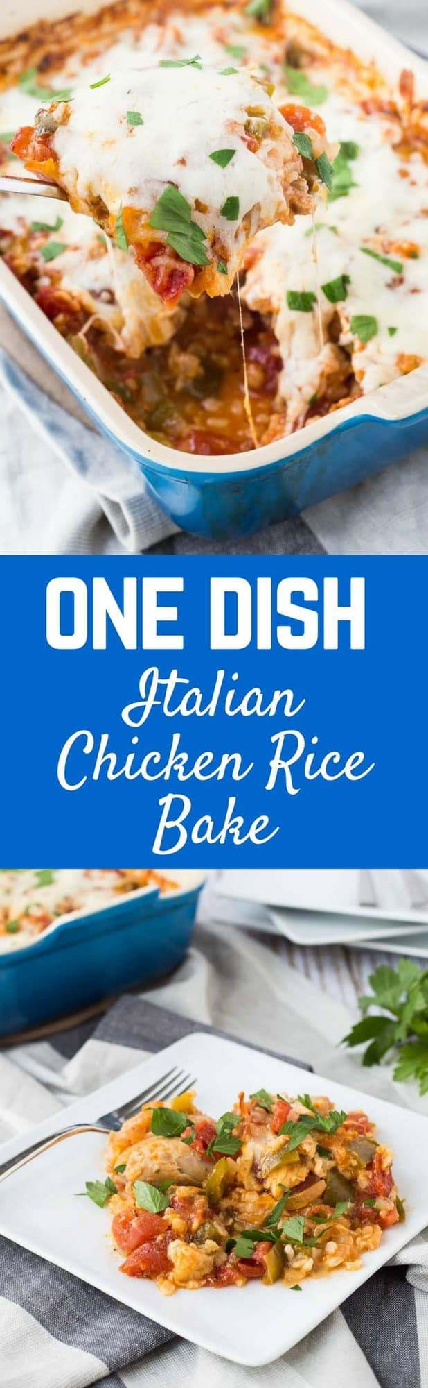 Do you think a DELICIOUS, quick, budget-friendly meal is impossible? Well, it's not! This one dish Italian chicken and rice bake is here to save the day.