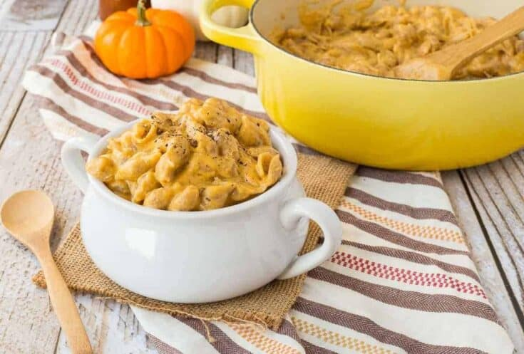 One Pan Pumpkin Macaroni and Cheese with Beer