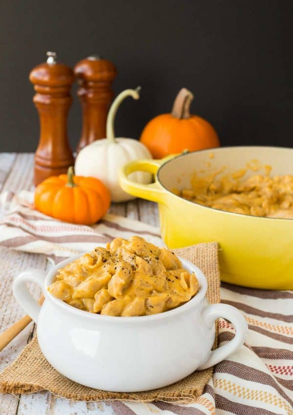 Fall perfection comes in the form of One Pan Pumpkin Macaroni and Cheese with Beer. The flavors are out of this world and it's even a little lighter thanks to the pumpkin and whole wheat pasta. Get the recipe on RachelCooks.com!