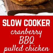 You'll want to drink the cranberry sherry barbecue sauce that this chicken is cooked in. This slow cooker barbecue pulled chicken is irresistible! Get the slow cooker recipe on RachelCooks.com!