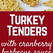 These turkey tenders are coated in crispy potato chips and fresh sage for a fun take on Thanksgiving turkey. Complete this meal with cranberry barbecue dipping sauce. Get the recipe on RachelCooks.com!