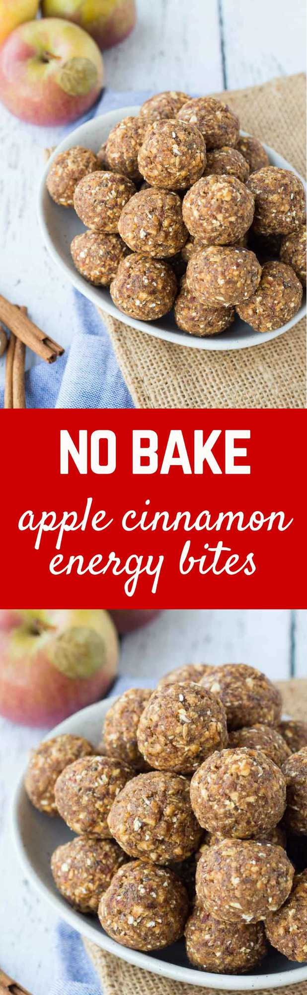 These apple cinnamon no bake energy bites are fun, filling, and could not be any easier to make. They're great for school lunch boxes, too! Get the easy and fun recipe on RachelCooks.com!