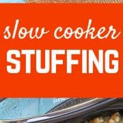 This slow cooker stuffing recipe will free up valuable oven space on Thanksgiving -- and it will quickly become a favorite. No more dry stuffing! Get the easy slow cooker recipe on RachelCooks.com!