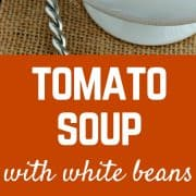 This tomato soup is creamy and full of protein thanks to the addition of white beans. Filling and healthy, a perfect option for lunch or dinner. Vegan option also available! Get the recipe on RachelCooks.com!