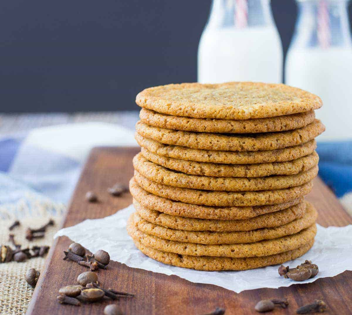 A surprising cookie combination full of familiarity with a bit of intrigue. The crispy edges and soft chewy middle make these coffee cookies with clove absolutely irresistible! Get the recipe on RachelCooks.com!