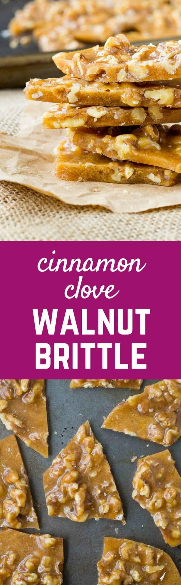 Perfect for gift giving or snacking on at parties, this Walnut Brittle with Cinnamon and Cloves is easy to make and so flavorful thanks to toasted walnuts and warm spices. Get the candy recipe on RachelCooks.com!