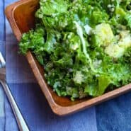 This kale salad with avocado has a great southwestern twist and is full of flavor and bright green hues. Salads don't have to be boring! Get the kale salad recipe on RachelCooks.com!