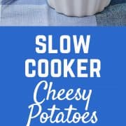 Crock Pot Cheesy Potatoes - get the easy recipe on RachelCooks.com