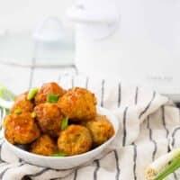 Turkey Enchilada Slow Cooker Meatballs