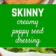 Creamy poppy seed dressing made with yogurt instead of mayonnaise -- you'll love the flavor of this light and easy to make dressing! Get the dressing recipe on RachelCooks.com!