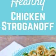 Healthy Chicken Stroganoff - get the 30 minute recipe on RachelCooks.com