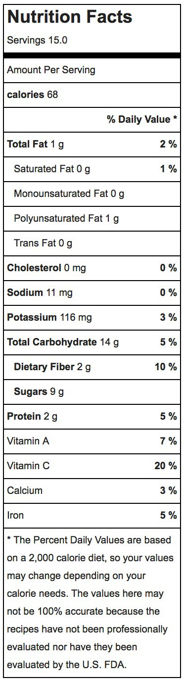 Chocolate Protein Ball Nutrition Label