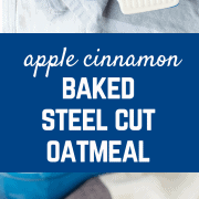 Meal prepping at its best, this easy apple cinnamon baked oatmeal recipe tastes great all week long! One of the best ways to enjoy it is with a dollop of yogurt on top! Get the easy and healthy breakfast recipe on RachelCooks.com!