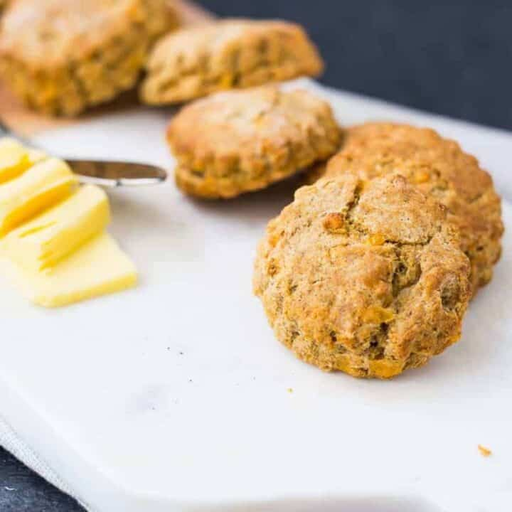 Whole Wheat Biscuits with Cornmeal, Cheddar, and Black Pepper